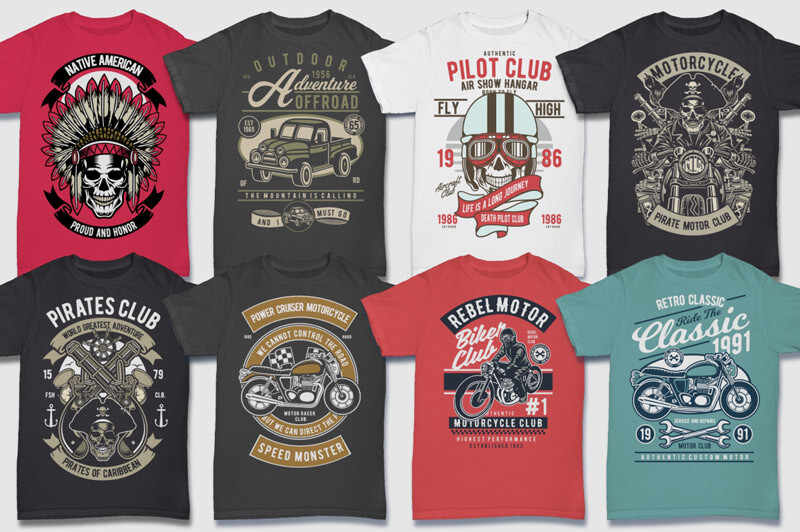 100 Retro T-shirt Designs Vol 2 Preview 09
