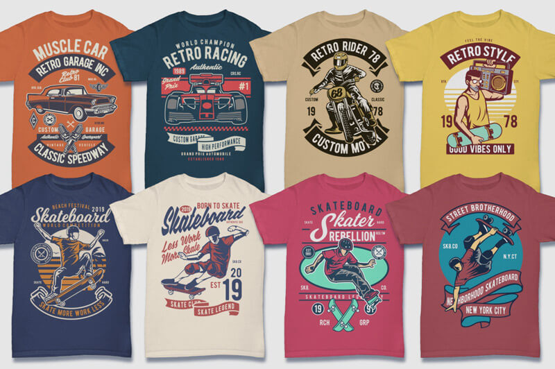 100 Retro T-shirt Designs Vol 2 Preview 10