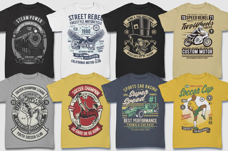 100 Retro T-shirt Designs Vol 2 Preview 12