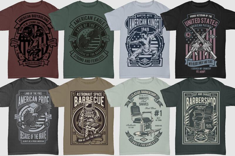 100 Retro T shirt Designs Vol 3 Preview 01