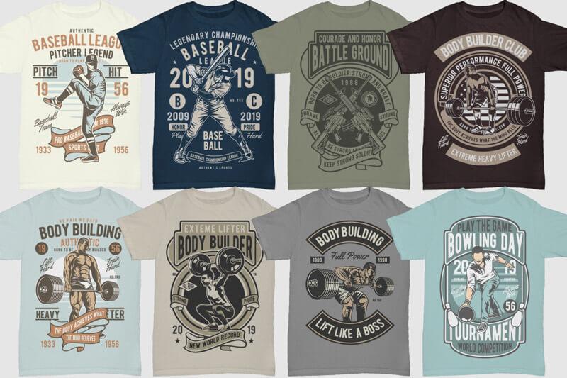 100 Retro T shirt Designs Vol 3 Preview 02