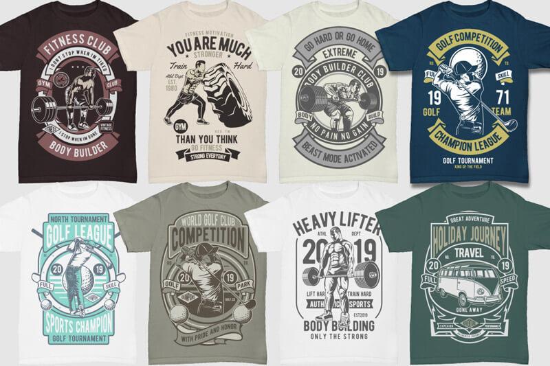 100 Retro T shirt Designs Vol 3 Preview 05