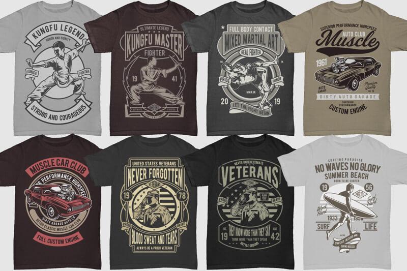 100 Retro T shirt Designs Vol 3 Preview 07
