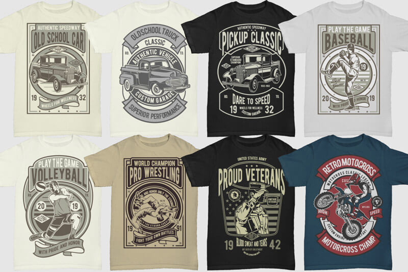 100 Retro T shirt Designs Vol 3 Preview 08