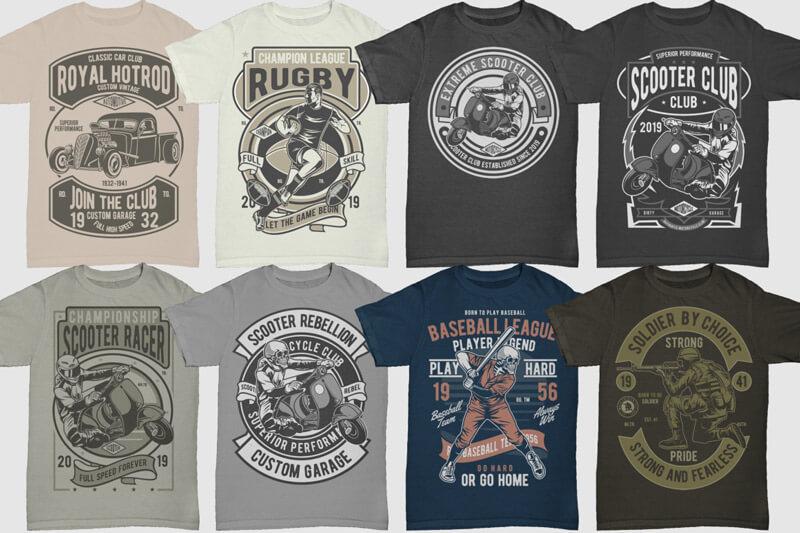 100 Retro T shirt Designs Vol 3 Preview 09