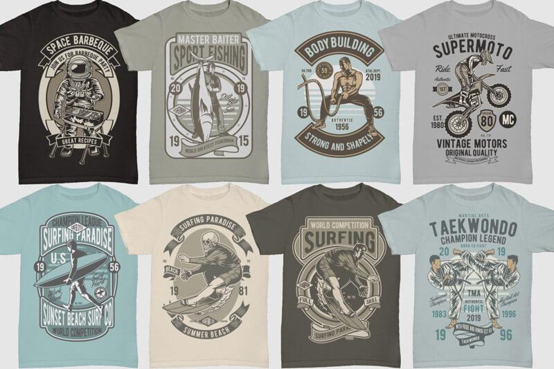 100 Retro T shirt Designs Vol 3 Preview 10