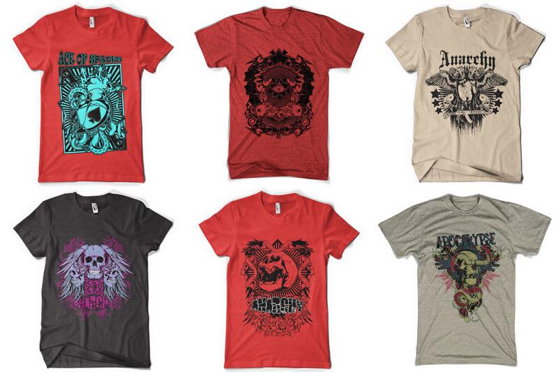 100 T-shirt Designs Vol 6 Preview 01