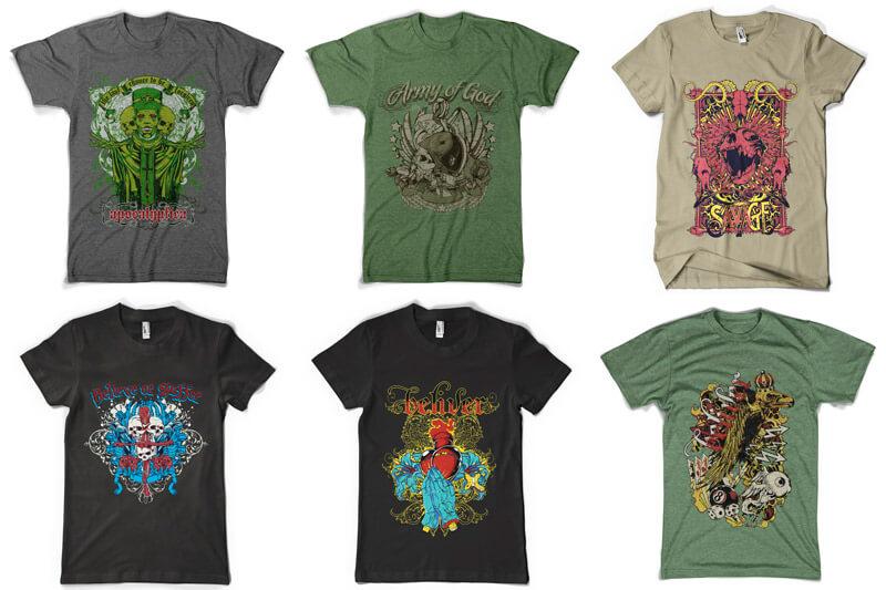 100 T-shirt Designs Vol 6 Preview 02