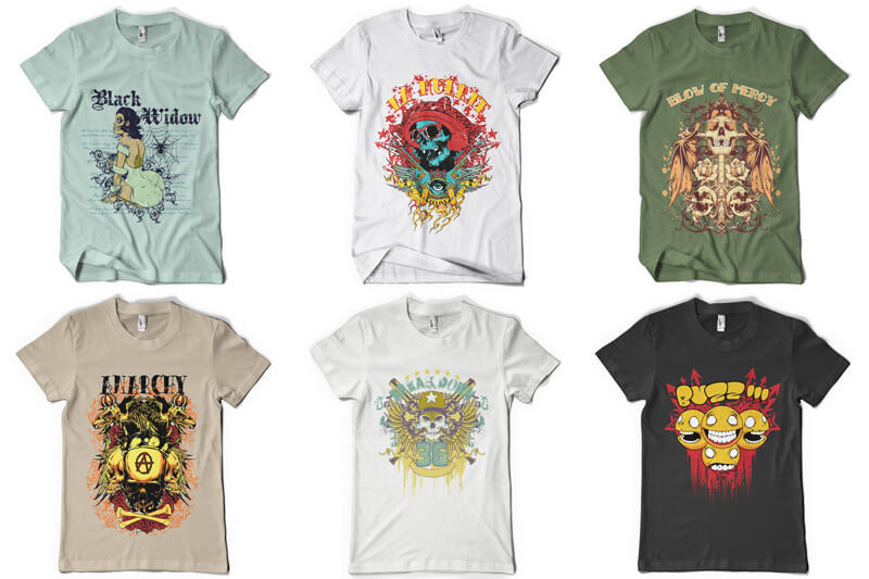 100 T-shirt Designs Vol 6 Preview 03