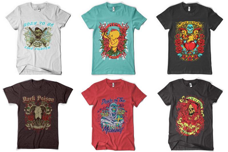 100 T-shirt Designs Vol 6 Preview 04