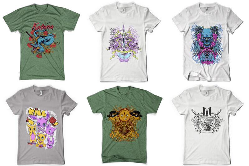 100 T-shirt Designs Vol 6 Preview 08