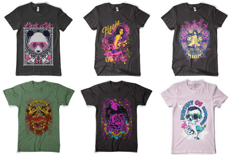 100 T-shirt Designs Vol 6 Preview 11