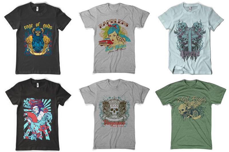 100 T-shirt Designs Vol 6 Preview 12