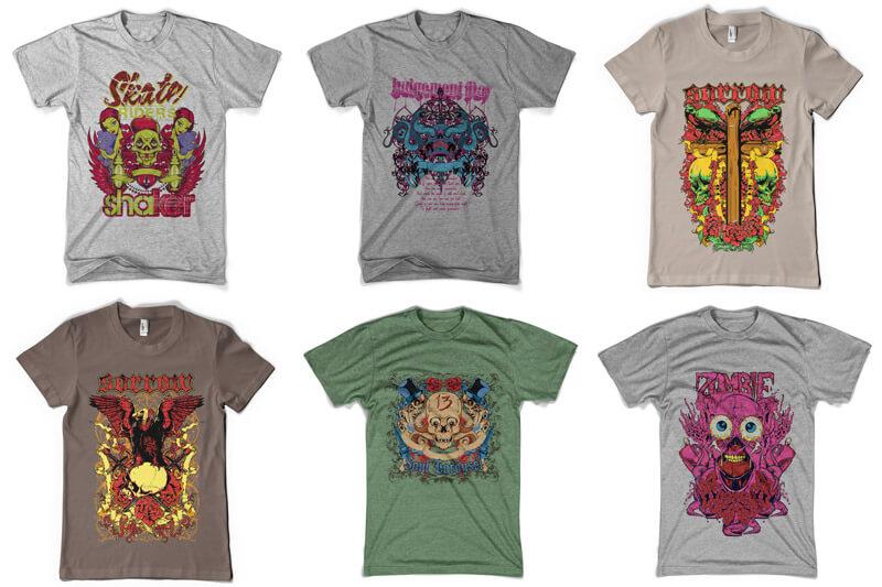 100 T-shirt Designs Vol 6 Preview 14