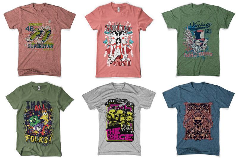 100 T-shirt Designs Vol 6 Preview 15