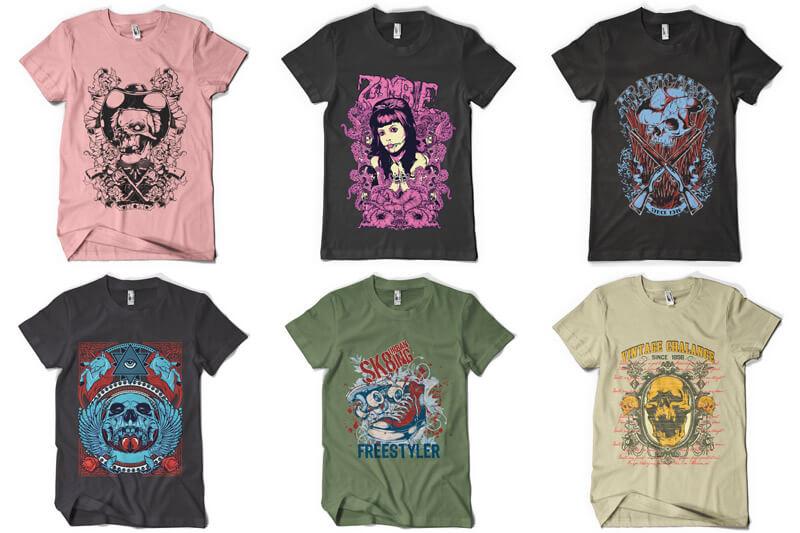 100 T-shirt Designs Vol 6 Preview 16