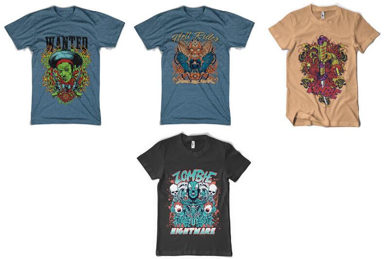 100 T-shirt Designs Vol 6 Preview 17