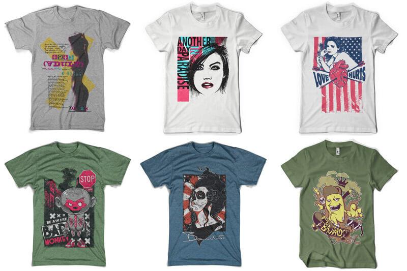 100 T-shirt Designs Vol 8 Preview 01