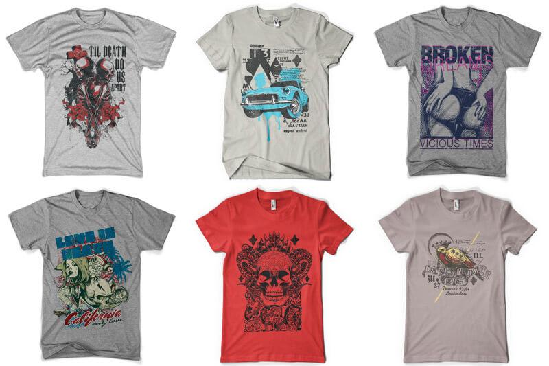 100 T-shirt Designs Vol 8 Preview 02