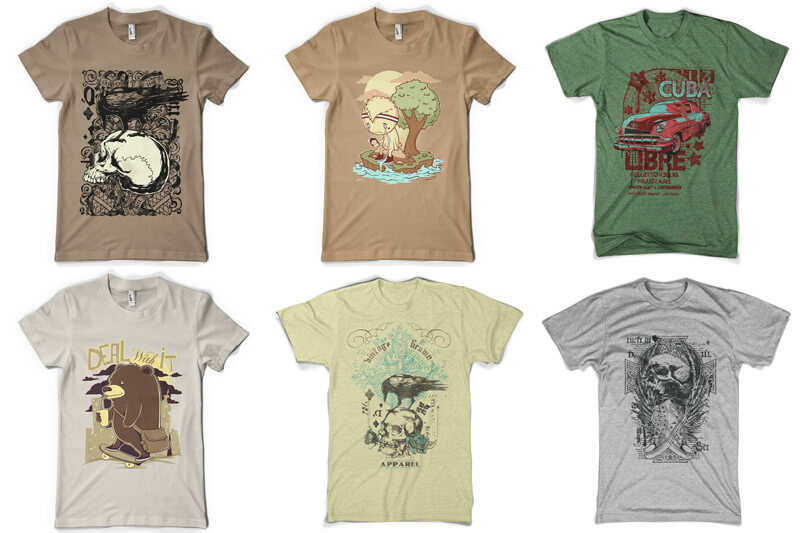 100 T-shirt Designs Vol 8 Preview 03