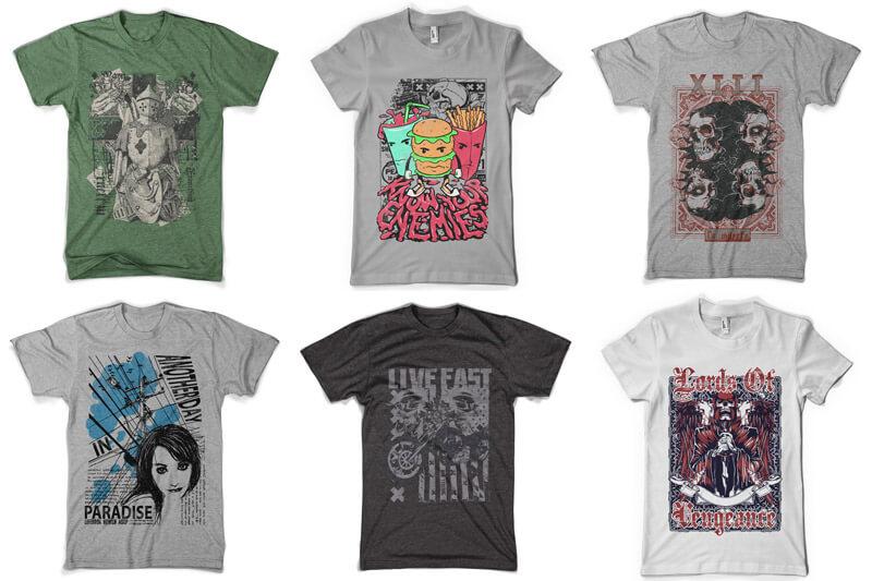 100 T-shirt Designs Vol 8 Preview 07