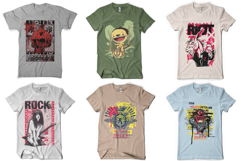 100 T-shirt Designs Vol 8 Preview 11