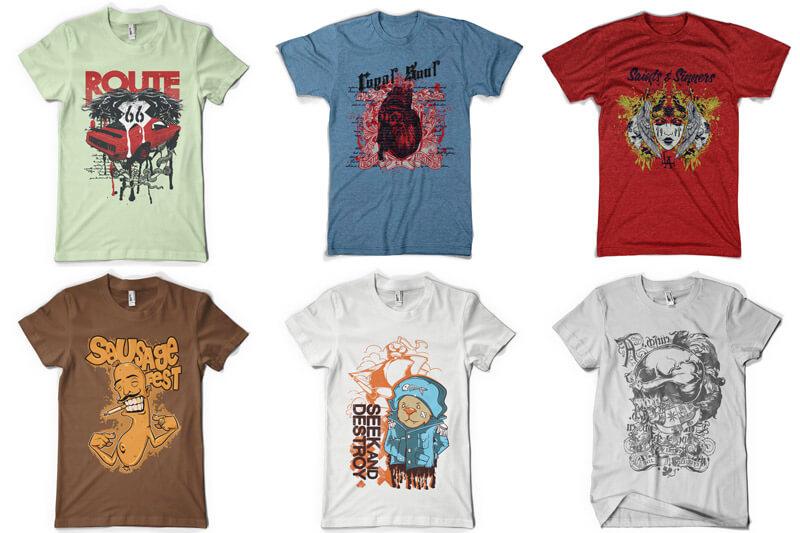 100 T-shirt Designs Vol 8 Preview 12