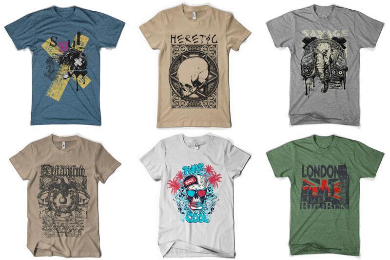 100 T-shirt Designs Vol 8 Preview 14