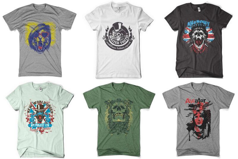 100 T-shirt Designs Vol 9 Bundle Preview 01