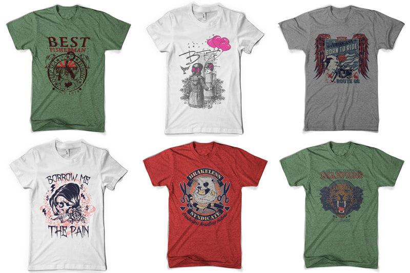 100 T-shirt Designs Vol 9 Bundle Preview 02