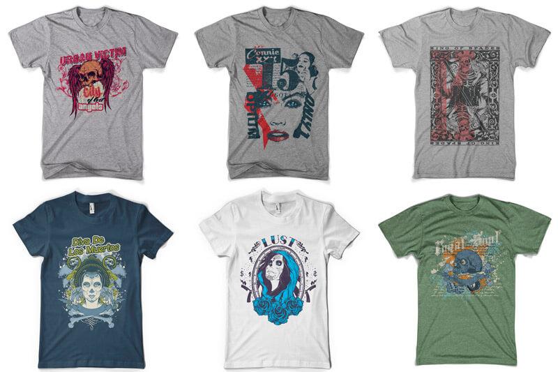 100 T-shirt Designs Vol 9 Bundle Preview 03