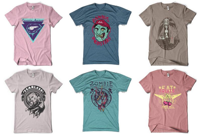 100 T-shirt Designs Vol 9 Bundle Preview 04