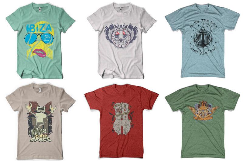 100 T-shirt Designs Vol 9 Bundle Preview 06