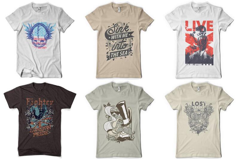 100 T-shirt Designs Vol 9 Bundle Preview 07