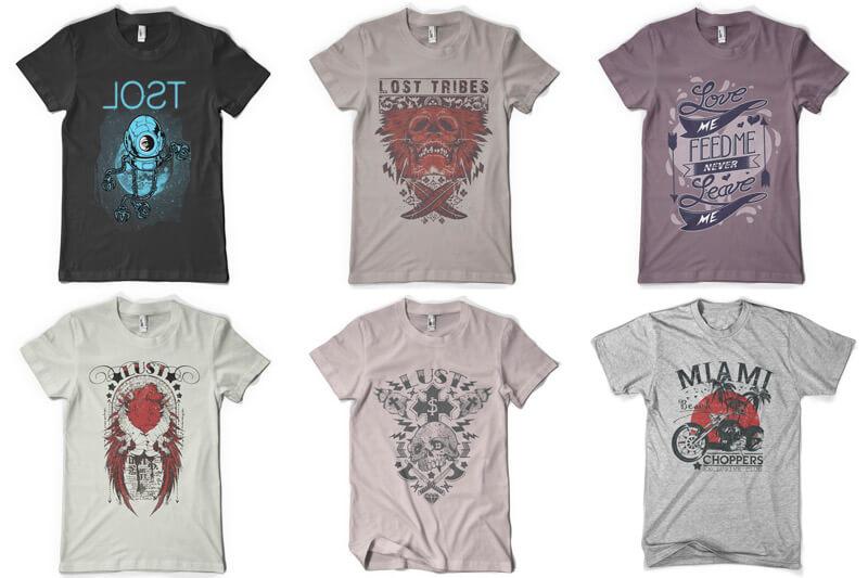 100 T-shirt Designs Vol 9 Bundle Preview 08