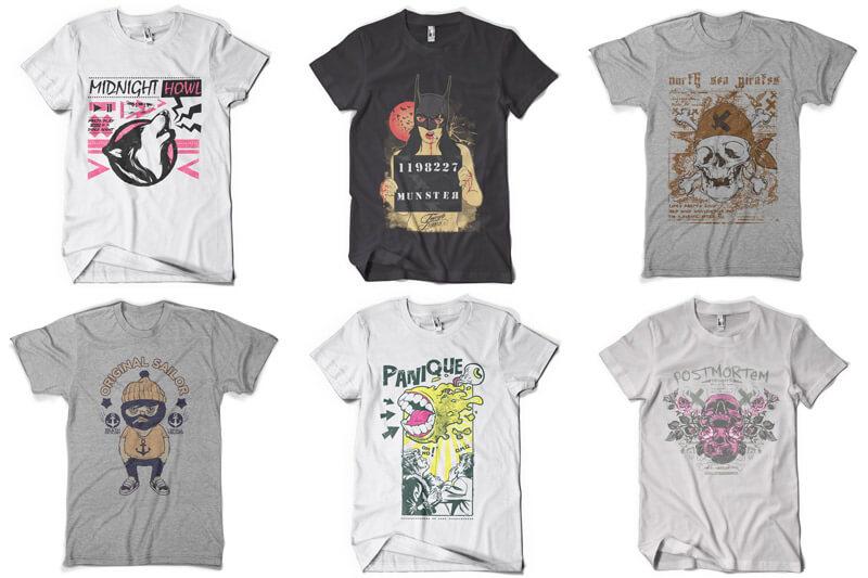 100 T-shirt Designs Vol 9 Bundle Preview 09