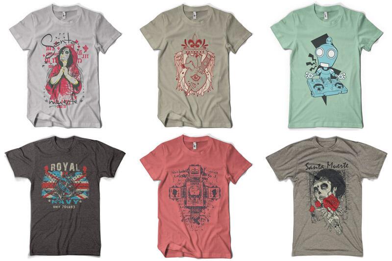100 T-shirt Designs Vol 9 Bundle Preview 10
