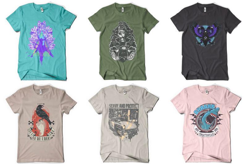 100 T-shirt Designs Vol 9 Bundle Preview 11
