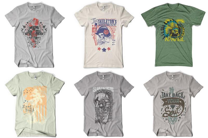 100 T-shirt Designs Vol 9 Bundle Preview 12