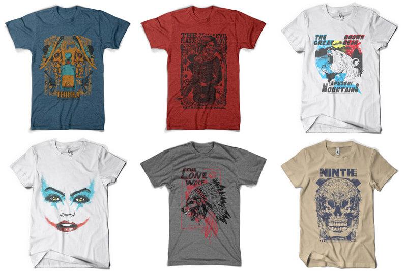 100 T-shirt Designs Vol 9 Bundle Preview 13