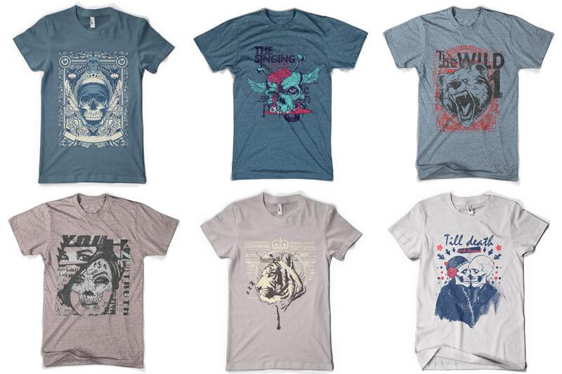 100 T-shirt Designs Vol 9 Bundle Preview 14