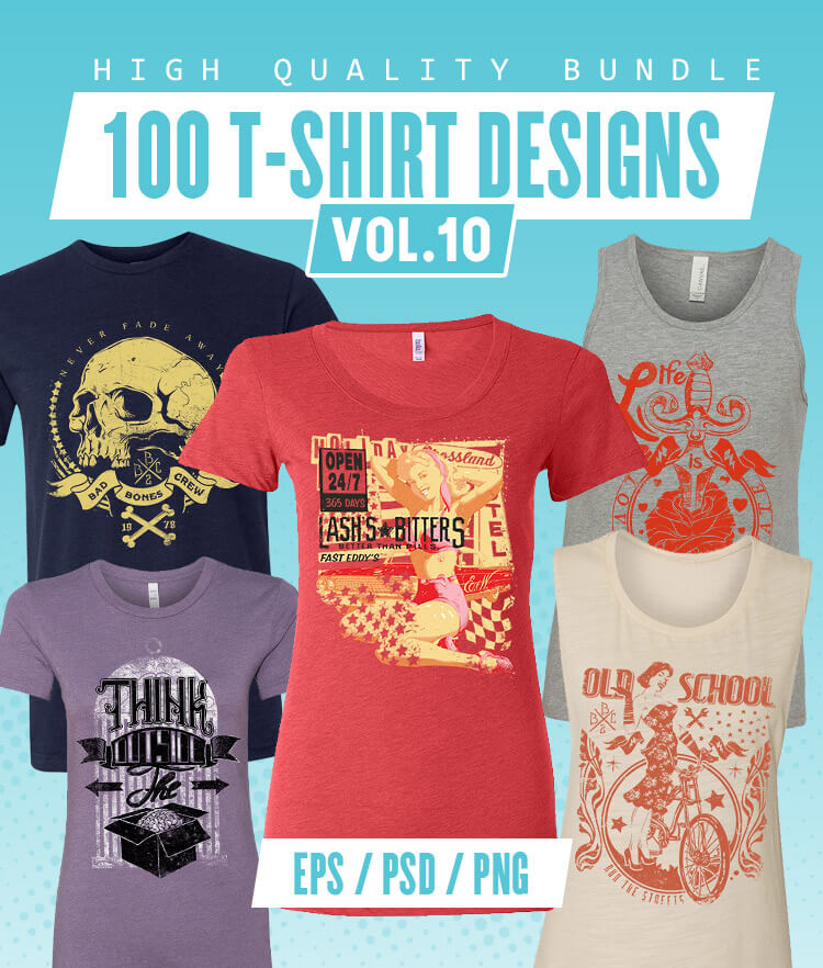 100 T-shirt Designs Vol 10 Cover