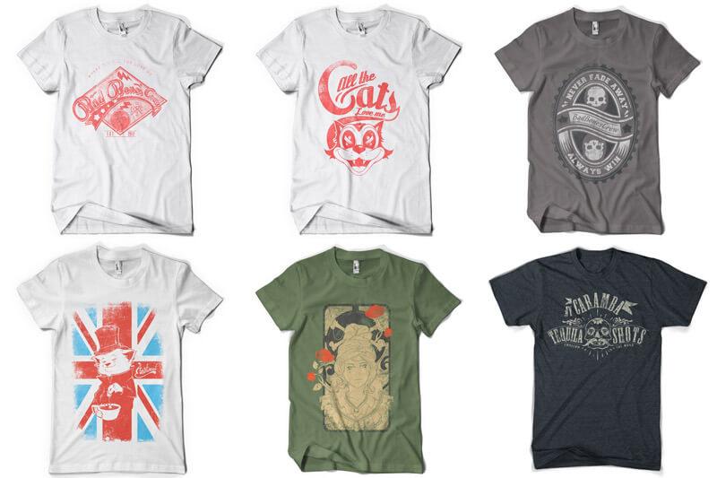 100 T-shirt Designs Vol 10 Bundle Preview 01