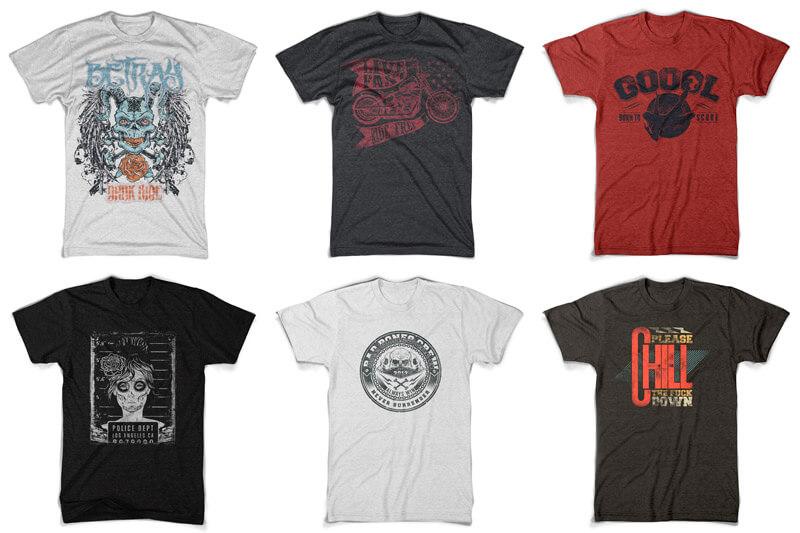 100 T-shirt Designs Vol 10 Bundle Preview 02