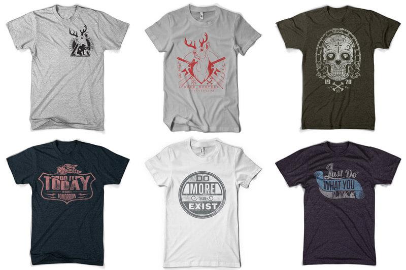 100 T-shirt Designs Vol 10 Bundle Preview 03