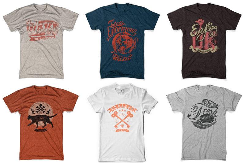 100 T-shirt Designs Vol 10 Bundle Preview 04