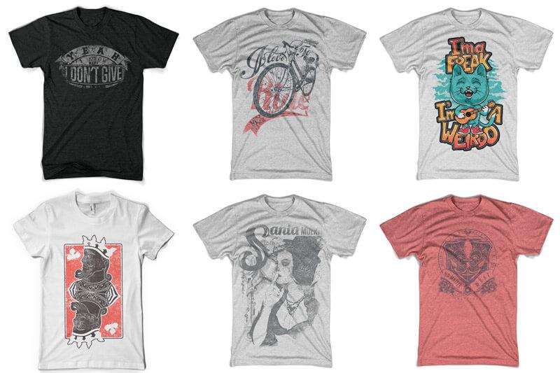 100 T-shirt Designs Vol 10 Bundle Preview 06