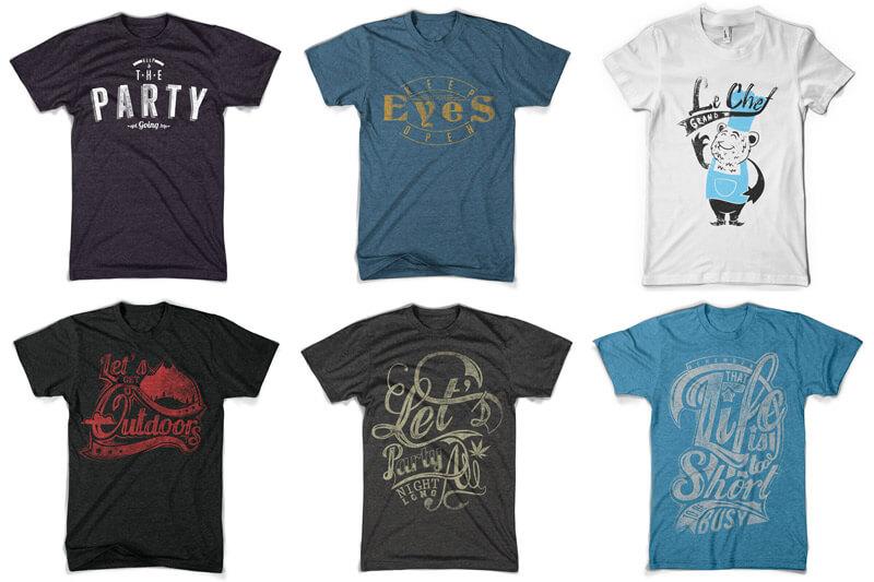 100 T-shirt Designs Vol 10 Bundle Preview 07