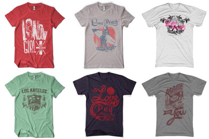 100 T-shirt Designs Vol 10 Bundle Preview 08