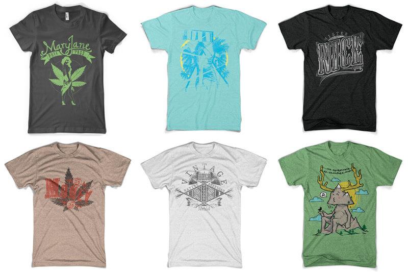 100 T-shirt Designs Vol 10 Bundle Preview 09